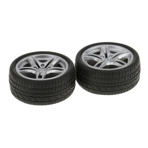 2 Stücke 48mm Gummi Räder Reifen Auto Lkw Modell Spielzeug Räder für Lkw