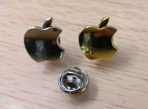 Apple logo Gold//Silver Pair High quality Suit Pins -3D Pins
