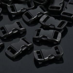 100 pcs 3//8/'/' Contoured Curved Side Release Buckles for Paracord Bracelet UK //#