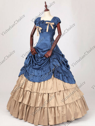 Victorian Dresses, Clothing: Patterns, Costumes, Custom Dresses    Victorian Gothic Princess Fancy Gown Theater Reenactment Halloween Costume N 270 $155.00 AT vintagedancer.com