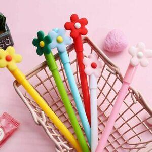 5pcs Cartoon Flower gel pen Office School Stationery ballpoint