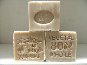 LOT-3-SAVON-DE-MARSEILLE-PARFUME-COTON-150g-LE-SERAIL-80-D-039-HUILES-VEGETALES