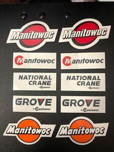 Oilfield Manitowoc Grov Crane Hardhat stickers Union Iron Workers Mining Sticker