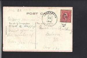 ELIZABETH, ILLINOIS, 1917 POSTCARD. JO DAVIES CO. 1844/OP.