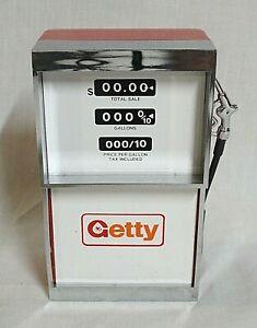 "LOOK! 1970`S ""GETTY"" GASOLINE GAS PUMP NOVELTY AM TRANSISTOR RADIO STILL WORKS!"