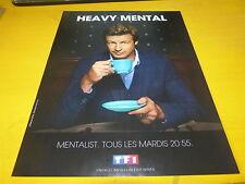 SIMON BAKER - MENTALIST - Publicité de magazine / Advert !!! Heavy mental !!!
