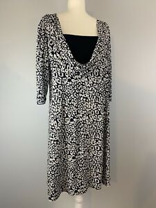 Jane-Lamerton-Size-16-3-4-Sleeve-Dress-Made-in-Australia