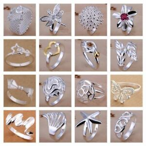 UK-925-Silver-Plt-Statement-Ring-P-1-2-Size-Ladies-Gift-Thumb-Toe-Open-Finger