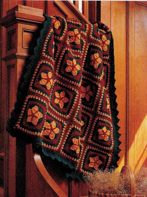 Granny Square Star Christmas Afghan Vintage Crochet Pattern Ebay