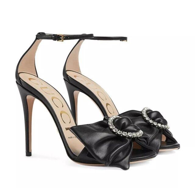 Gucci Black Ilse Crystal Bow 115