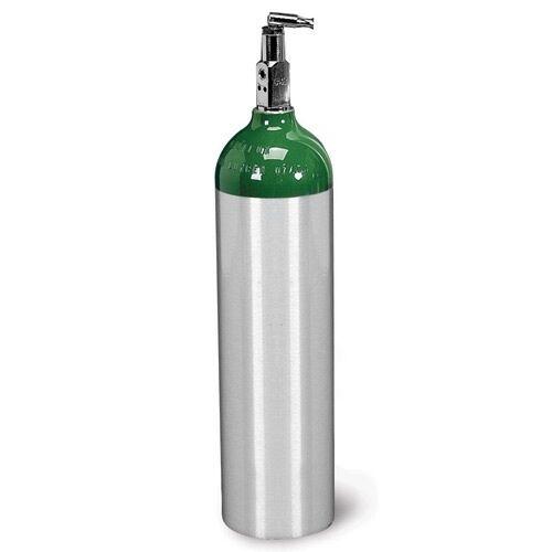 D Size Aluminum Oxygen Cylinder tank W/ Toggle Valve