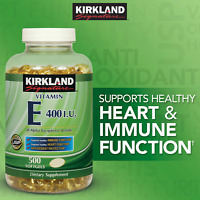 Kirkland Signature Vitamin E 400 Iu, 500 Softgels, Strong Antioxidant Protection