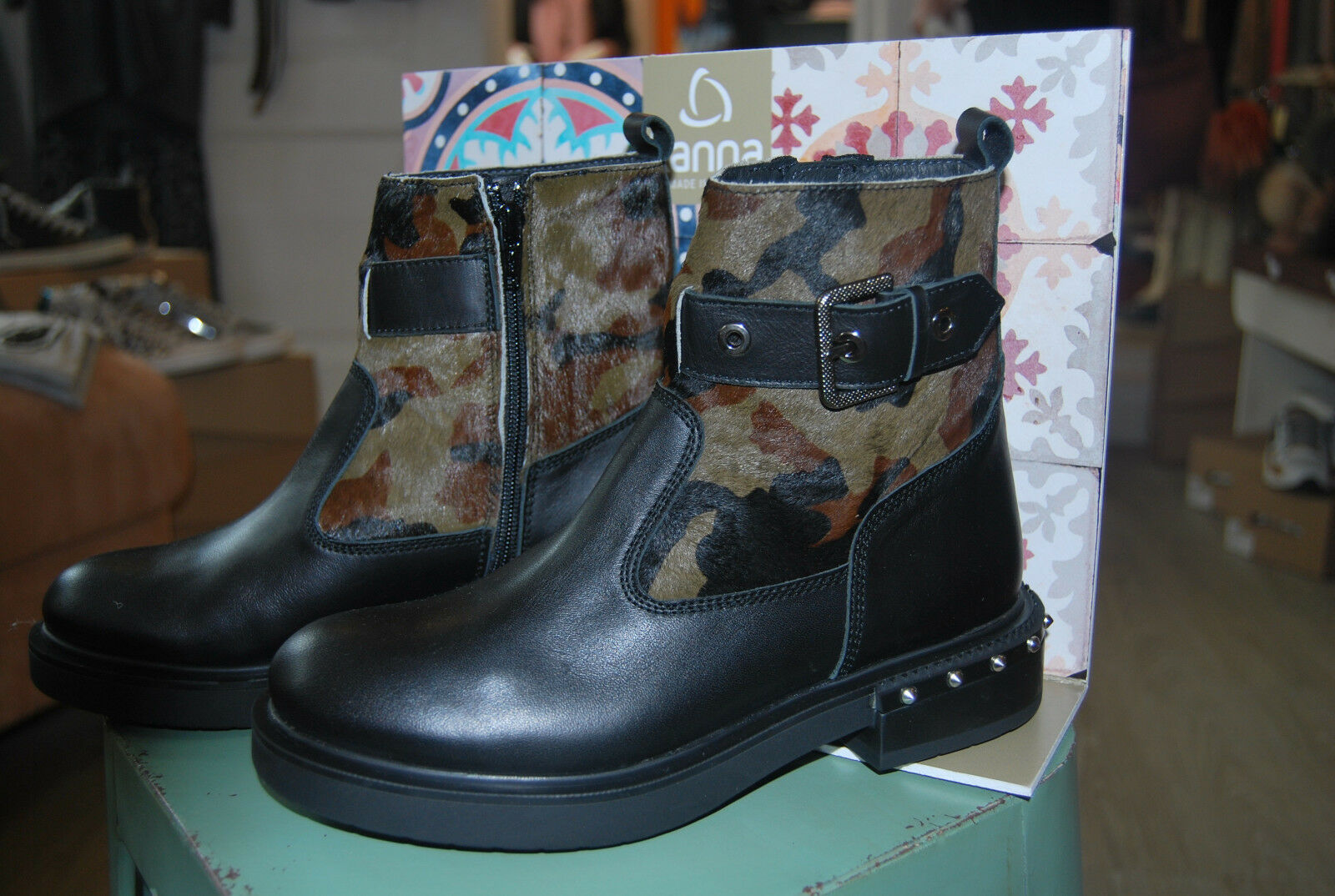 Grandes zapatos con descuento Kanna Shoes Boots Pony Negro Camouflage