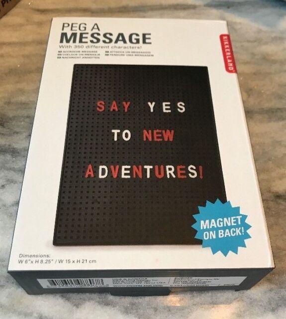 8 X 6 Kikkerland Peg a Message Board