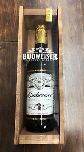 Image is loading Budweiser-Jim-Beam-Copper-Lager-22oz-Bottle-Holiday-