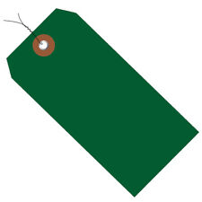 Plastic Shipping Tags 4 34 X 2 38 Prewired Green 100case