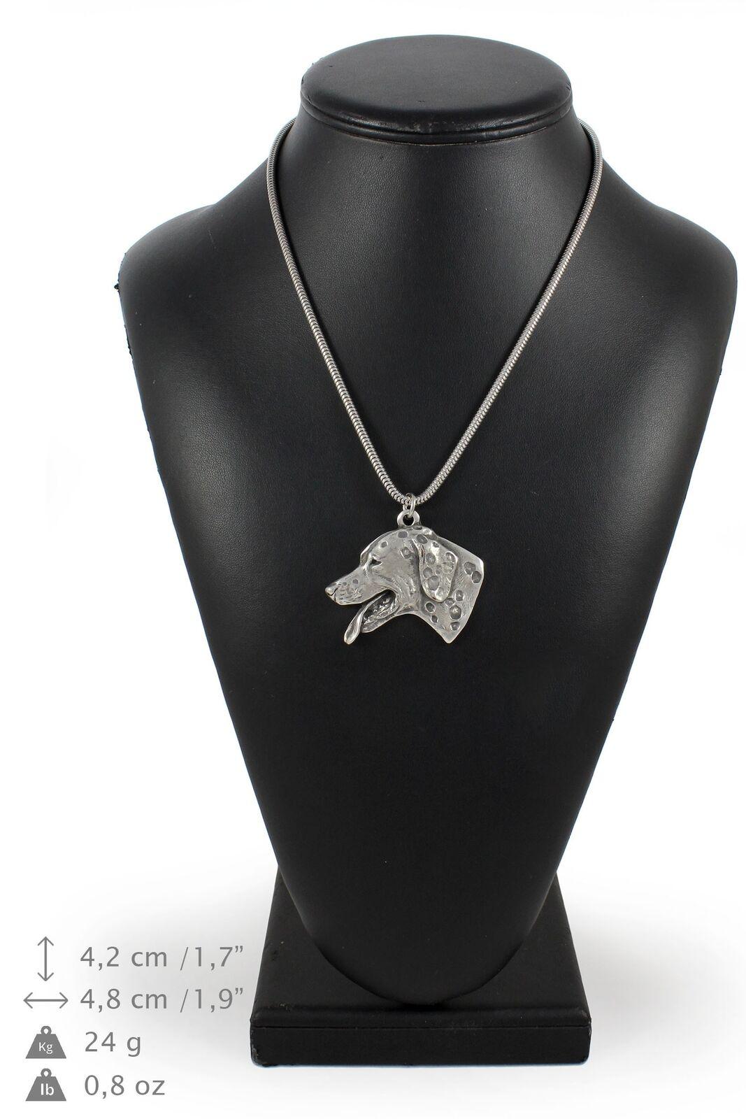 Dálmata - silver plaqué collier sur une cordon en silver Art Dog FR