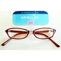 Foster Grant Magnivision Xtrasight Auburn Glasses (m91) Choose Your Strength