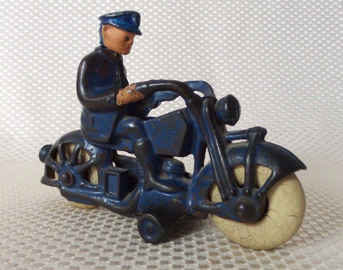 Great Vintage 1930s J.E. J.E. J.E. Stevens Cast Iron Harley Davidson - Original Tires 9ccd4a