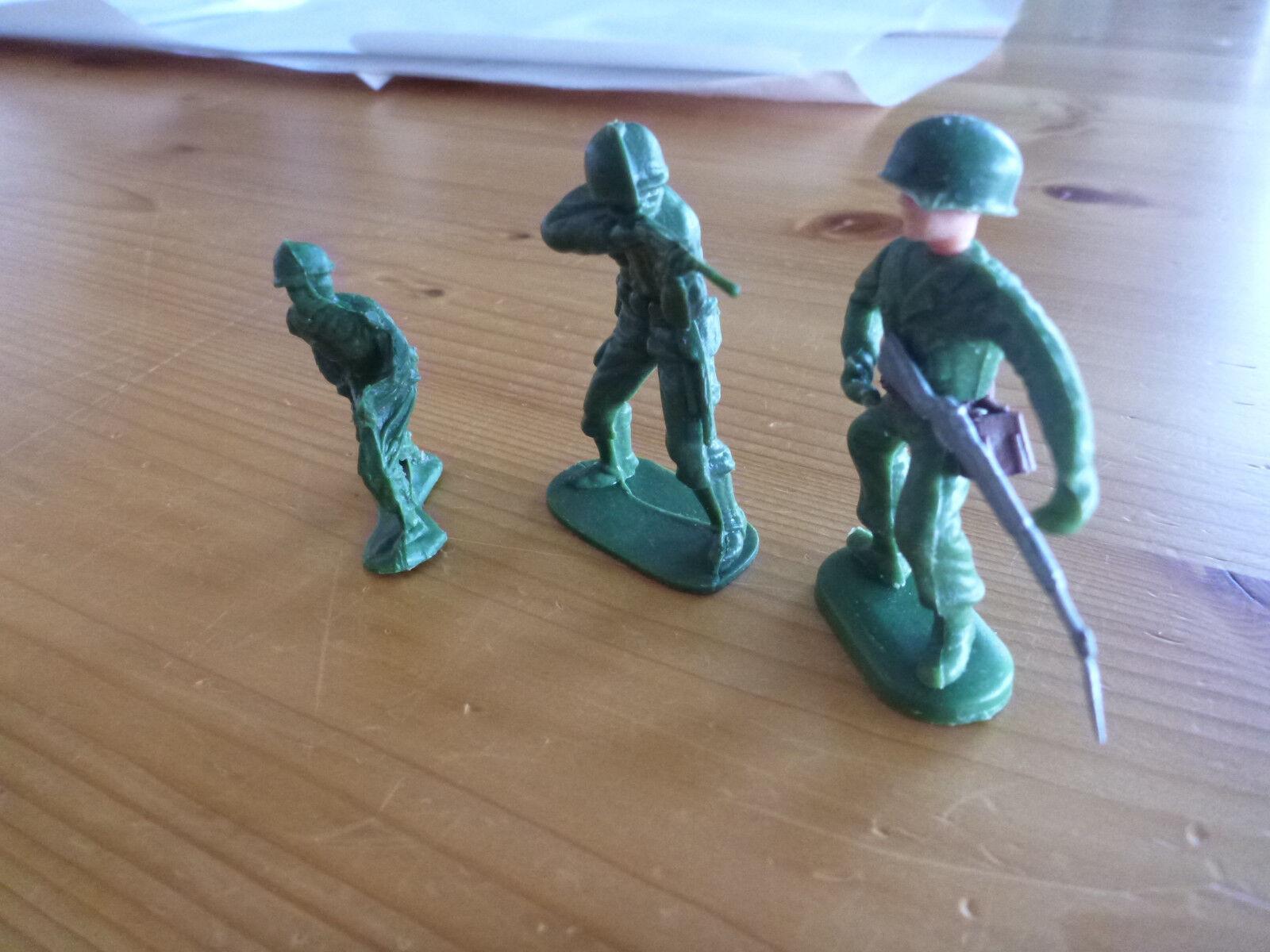 Alte Cowboy & Indianer, Soldaten Kunststofffiguren, 60er