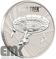 Tuvalu 1 Dollar 2016 USS Enterprise NCC-1701 50 Jahre Star Trek 1 Oz Silber stgl