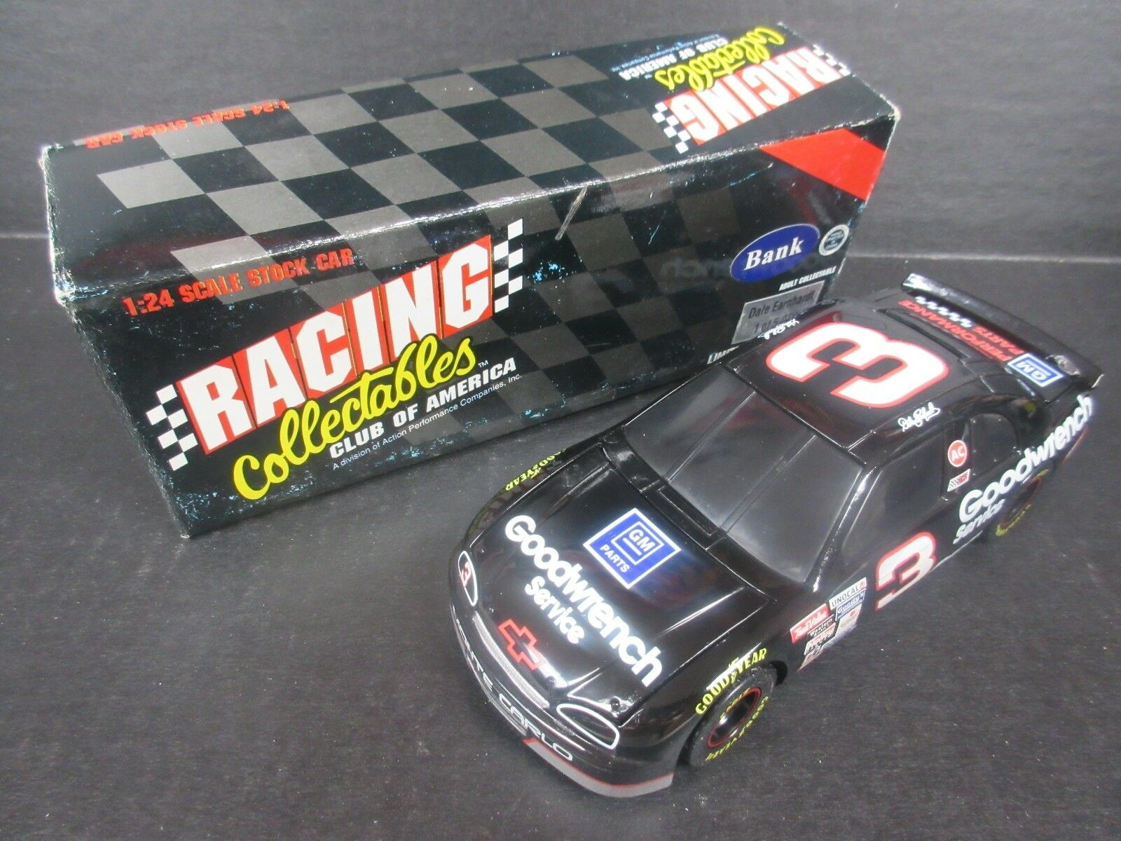 1995 RCCA  3 Dale Earnhardt GoodWrench-Performance Bank Car 1/24th scale