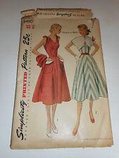 Vintage 1940s 50s Simplicity Size 16 3490 dress and bolero  cut pattern