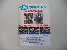 advertising Pubblicità 1985 MOTO KTM SERIE '85 125 250 500