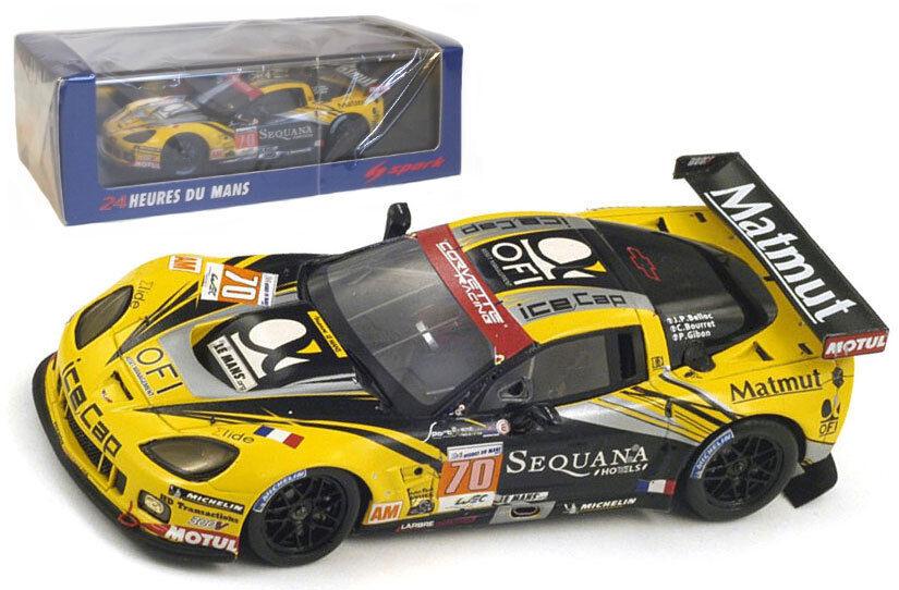 Spark S3736 CORVETTE C6 ZR1     70 Larbre Competition    Le Mans 2012 -, échelle 1 43, 60d44e