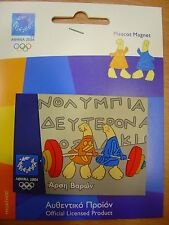 WEIGHTLIFTING - OLYMPIC PLASTIC MAGNET ATHENS 2004 OLYMPIC GAMES