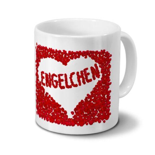 Rosenherz Tasse mit Namen Engelchen