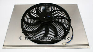 "Universal 16"" Electric Fan Shroud Aluminum Fits 31"" Crossflow Radiator"
