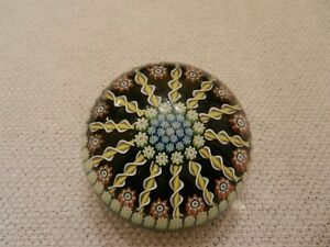 Vintage-Perthshire-Glass-Paperweight-Millefiori-amp-Radial-Twists-Excellent