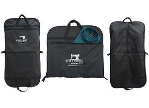 """2 For £ 15!!! Black/navy 44"""" Suit Carrier Garment Cover Travel Bag-strong Nylon-afficher Le Titre D'origine Les Commandes Sont Les Bienvenues."""