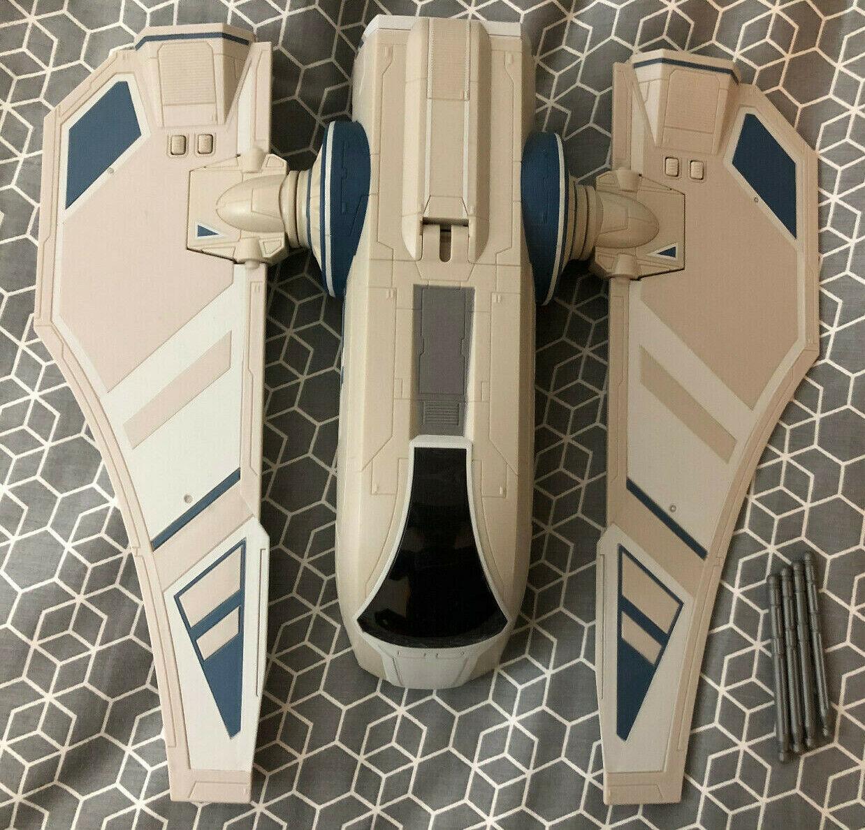 Star Wars Hasbro The Clone Clone Clone Wars TCW Mandalorian Assault Transport Vehicle Ship 4a9a0a