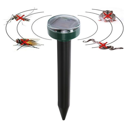 Solar Power Ultrasonic Sonic Mouse Snake Mole Insect Pest Rodent Repeller 4Pcs