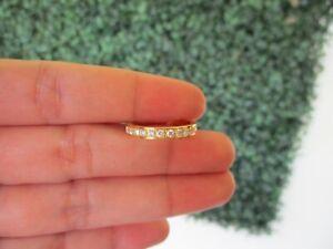 .39 CTW Diamond Half Eternity Ring 14k Yellow Gold HE301 sep