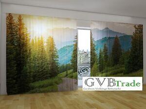 "Fotogardinen ""wald Berge"" Fotovorhang Panorama Vorhang Gardinen Curtains, Drapes & Valances Auf Maß Customers First"