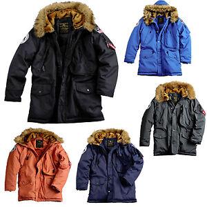 alpha industries polar jacket jacke winterjacke herren m nner parka mantel s 3xl ebay. Black Bedroom Furniture Sets. Home Design Ideas