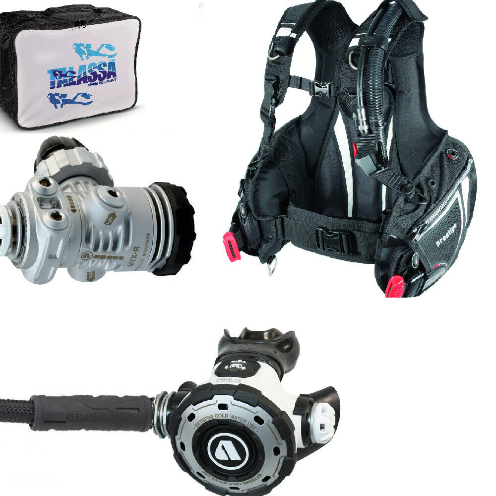 LO3 67 regulator Apeks MTX-R DIN300 + BCD MARES PRESTIGE MRS PLUS