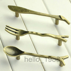 76mm Bronze Creative Kitchen Cabinet Handles Cupboard Handles Closet Drawer Pull Texture Nette