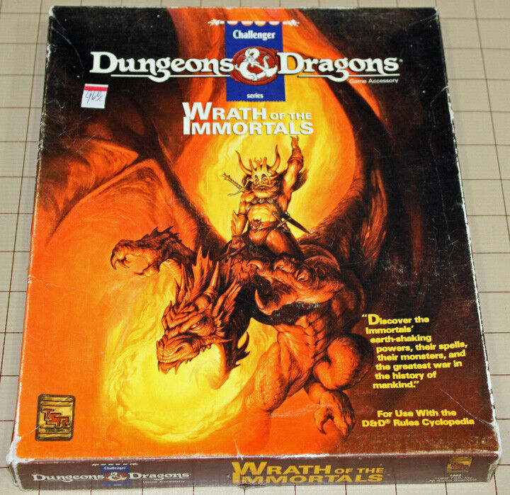 Dungeons & & & Dragons Wrath of The  Immortals Set (TSR 1082)  Complete Boxed set    3ed0f3