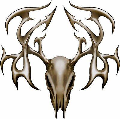 Deer buck tribal skull hunting race car hood decal graphic size options