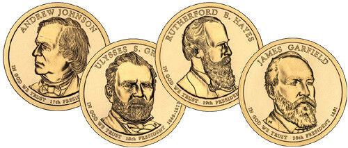 ALL 4 PRESIDENTIAL DOLLAR COINS FOR 2011 P-MINT