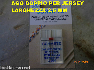 MACCHINE MACCHINA DA PER CUCIRE- AGO DOPPIO DA 2,5 mm  PER CUCITURE PARALLELE