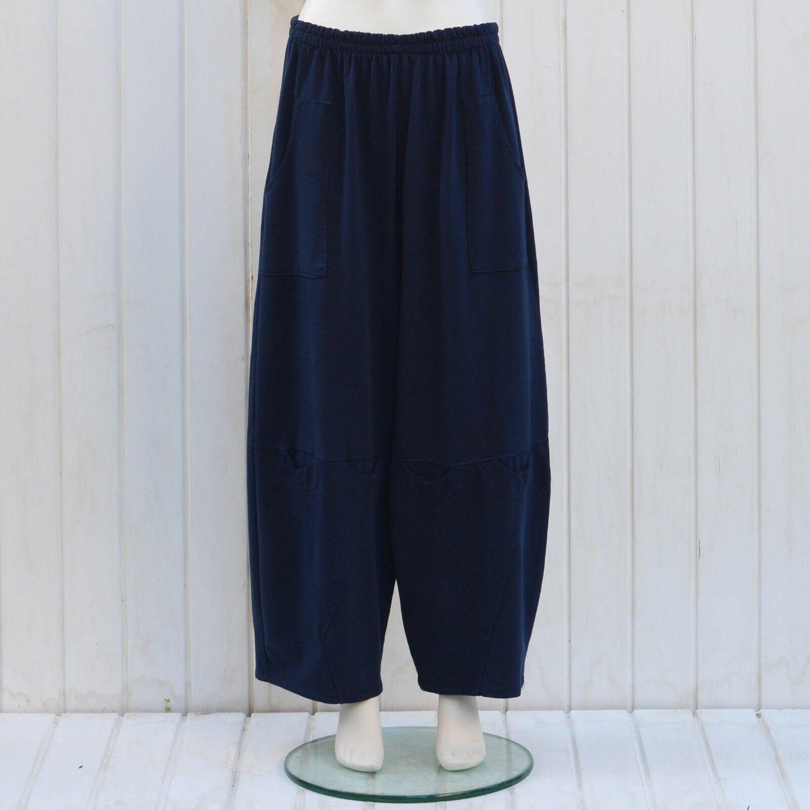 Plus Größe damen Trousers Pants Lagenlook Loose 16 18 20 22 24 26 28 30 32 9820