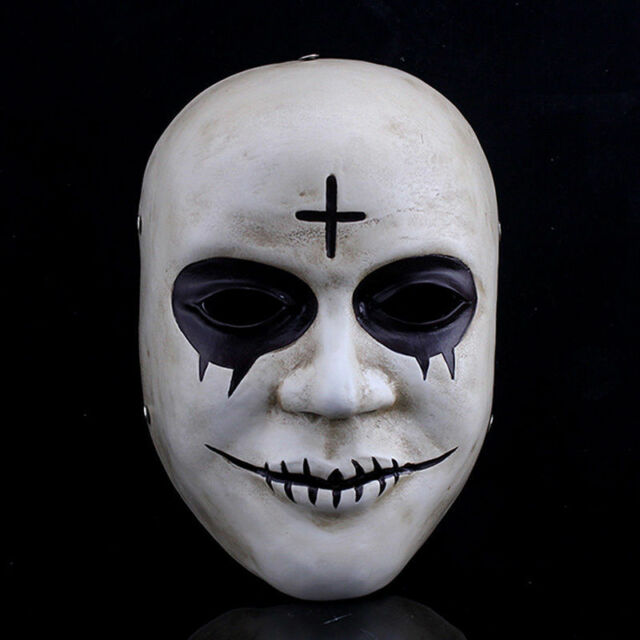 The Purge Smile Horror Latex Face Mask Mime Halloween Fancy Dress Costume Masks