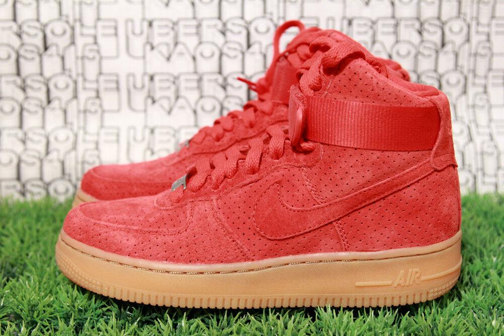 Nike Air Force 1 RED SUEDE/GUM off white qs prm travis scott 749266 601 WOMEN 6