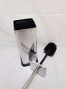 Stainless-Steel-Soft-Square-Chrome-Toilet-Brush-amp-Holder-Bathroom-Sabichi-172570