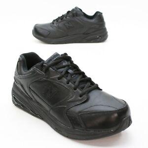 New Balance Ladies 12 Extra Wide 927 Black Leather Walking ...